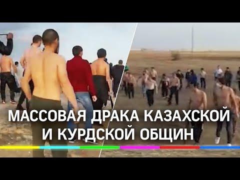 Видео: массовая драка казахской и курдской общин под Саратовым