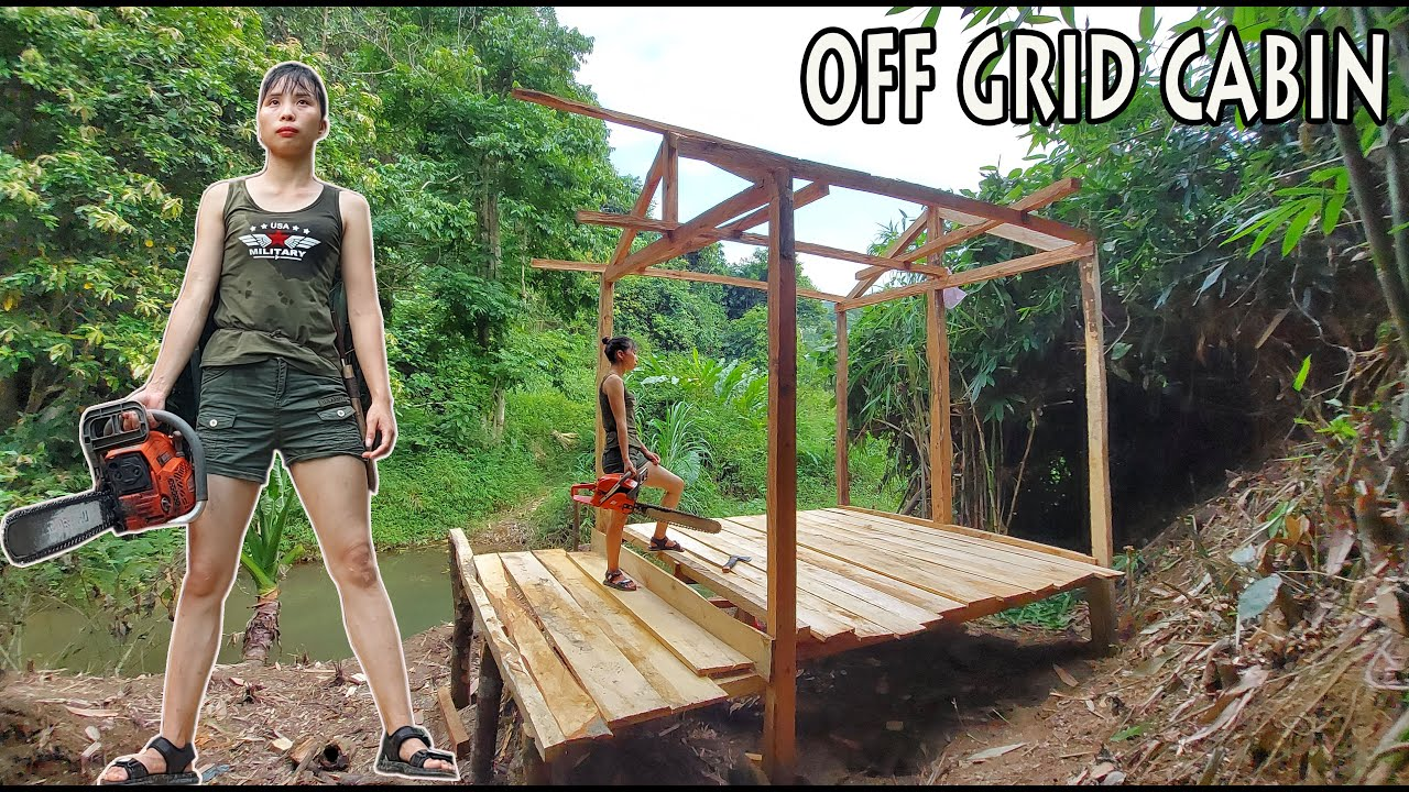 Ana Bushcraft Building an Off Grid Cabin using Free Pallet Wood (p1)   OFF GRID LIVING E.p10