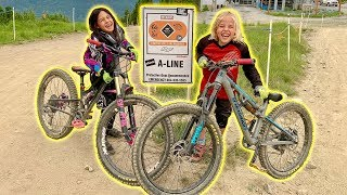 8 Year Olds Ride A-Line in Whistler Mountain Bike Park (CUTE)