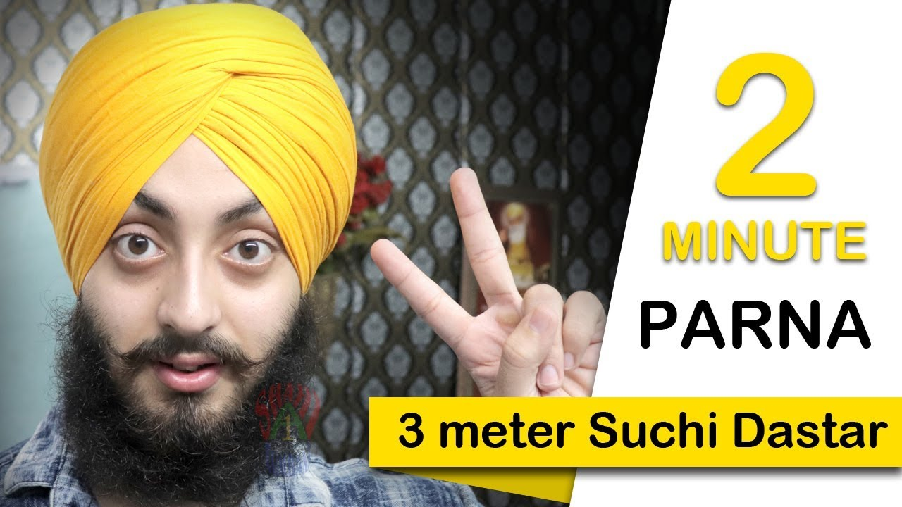 How to tie Parna   Parna for  Sports and Games   Quick Parna   2.50m