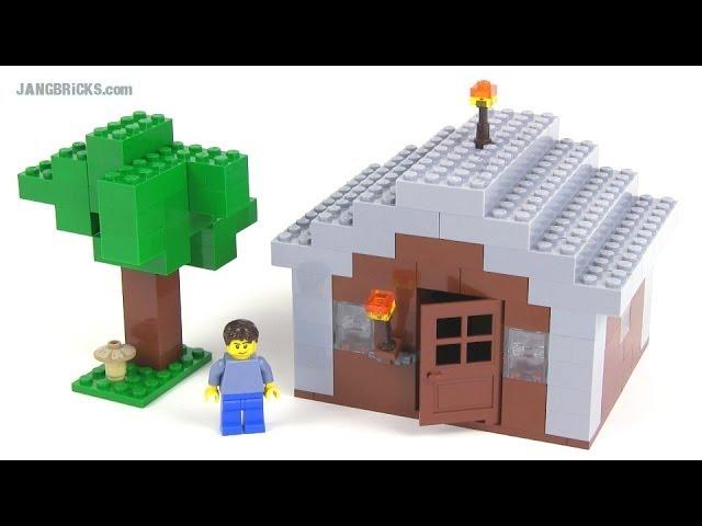 Lego Minecraft Custom Minifig Scale House My First Youtube