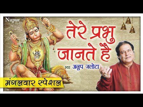 मंगलवार Special भजन - Tere Prabhu Jante Hain (With Lyrics) - Anup Jalota - Hanuman Bhajan