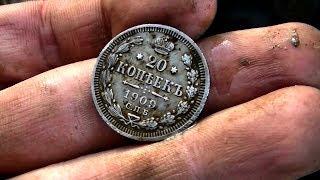Поход по бывшей УЖД к лагерю ГУЛАГа и поиск монет в старом урочище #167