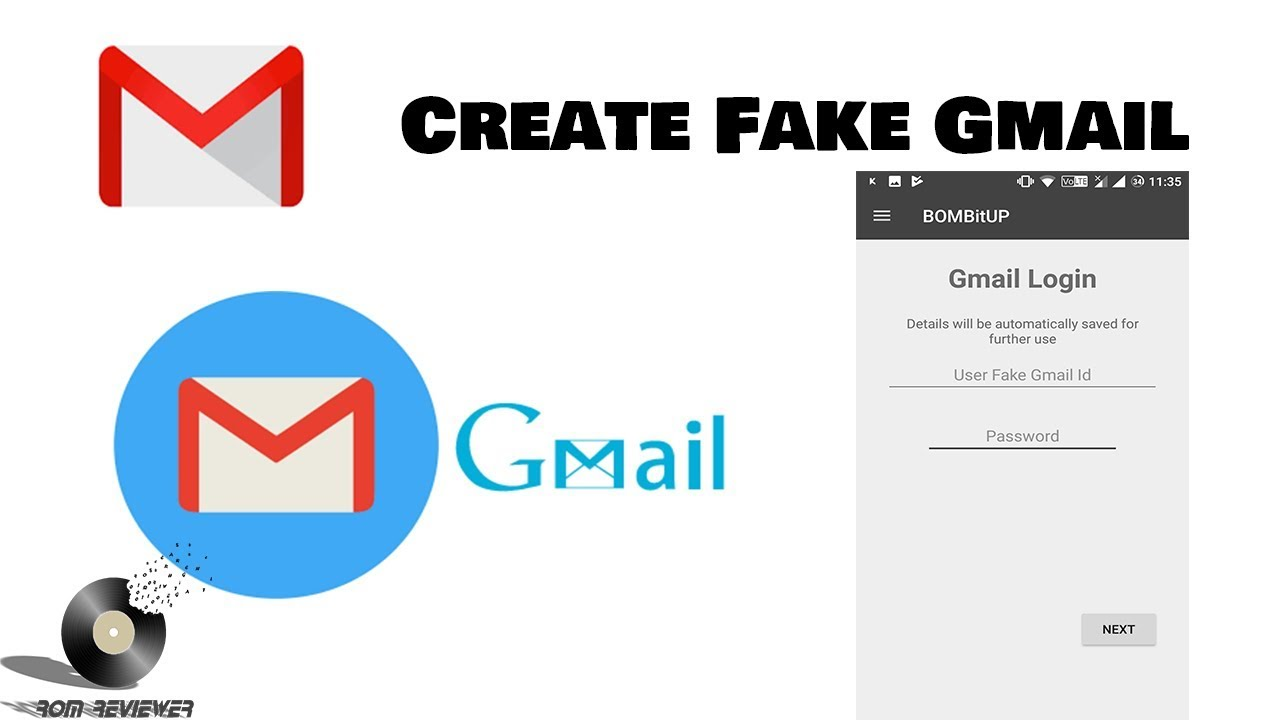 Steps to Create a Fake Gmail Account with Password 2019