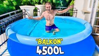 NAJWIĘKSZY BASEN 4500 LITRÓW NA BALKONIE! *ekstremalne*