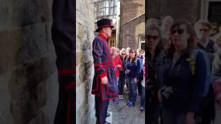 Tower of London tour. Nov 2 2016. With Beefeater Dave.