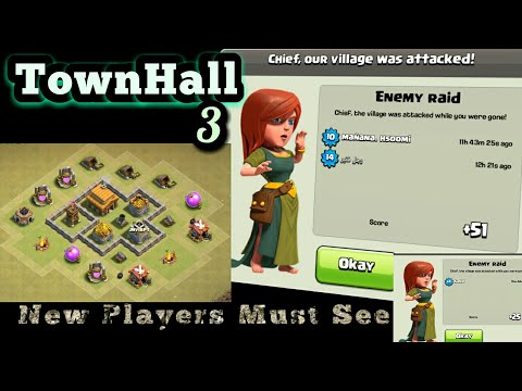Best Th3 Base Farming With Replay | Clash Of Clan Th3 Max Amazing Base