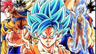 tout les transformation de goku db ,dbz,dbgt,dbs (HD)