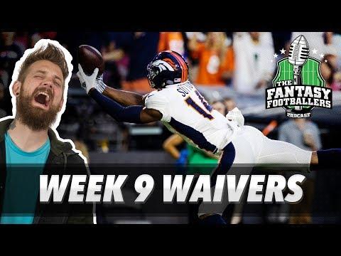 Fantasy Football 2018 - Week 9 Waivers & QB Streamers, Triumvirate - Ep. #639