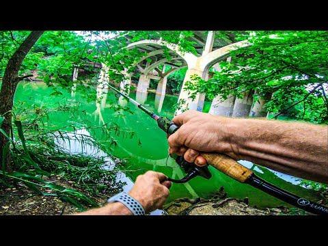FISHING AUSTIN TX BARTON SPRINGS W/ GOOGAN BAITS