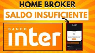 Aew investidores recebo muito essa pergunta: fui enviar uma ordem de compra ações no home broker do banco inter e deu saldo insuficiente, mas eu tenho din...