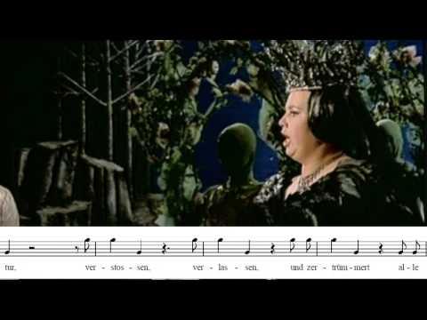 """Cristina Deutekom: """"Der hölle rache"""". Die Zauberflöte. La flauta mágica. W. A. Mozart"""