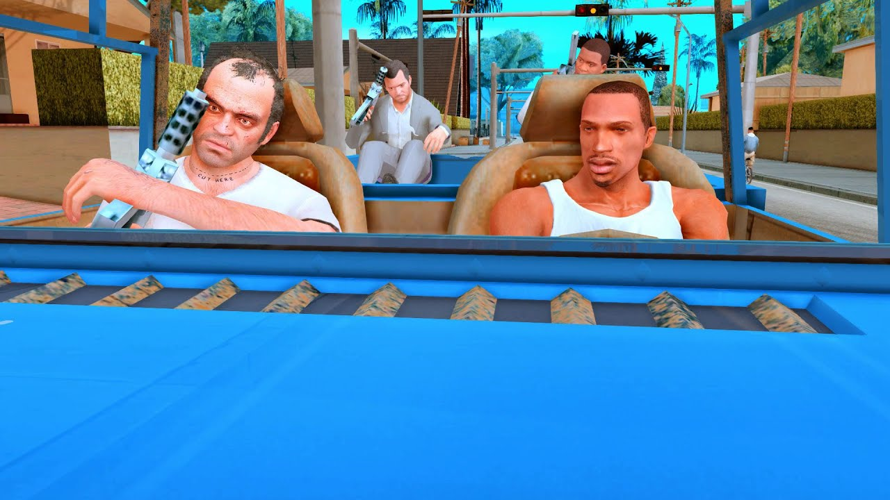 GTA San Andreas - CJ Feat Franklin Michael & Trevor | Mission Drive-By