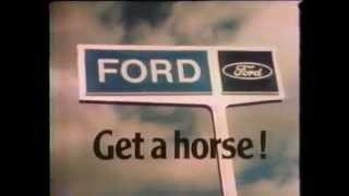 "1974 Ford ""Get a Horse!"" TV Comm. for Mustang, Pinto, and Maverick"