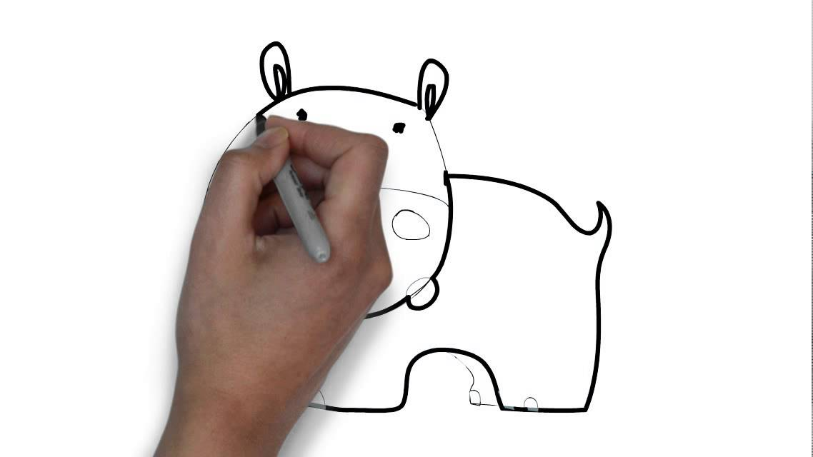 Cómo dibujar un hipopótamo - YouTube
