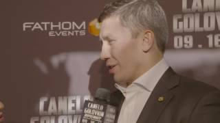 Gennady Golovkin: 'Canelo is different. He's a true champion' (Video: Golden Boy)