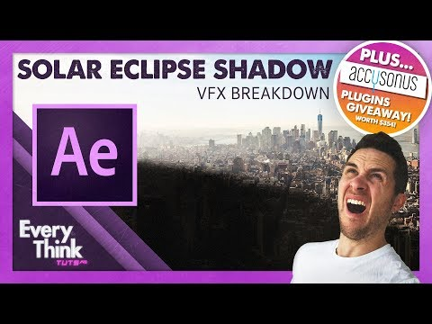 How To Make A Giant Solar Eclipse Shadow | Adobe After Effects Tutorial thumbnail