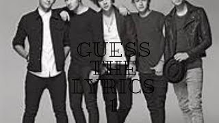 One Direction - Guess the lyrics #1