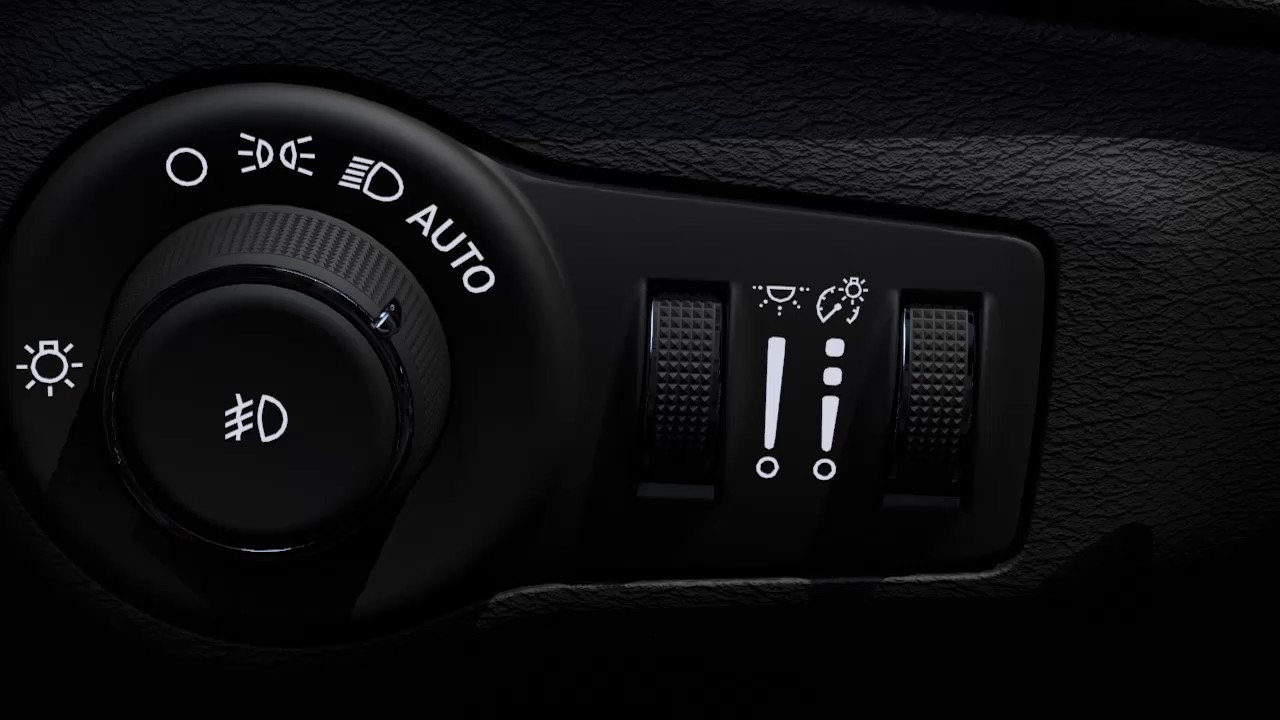 Headlight Control Switch-How to use the headlight and parking lights in  2017 Jeep Compass MP