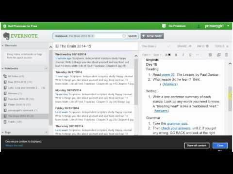How to Use Evenote for Homeschool Lesson Plans