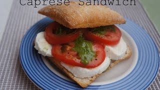 Caprese Sandwich With Parsley And Walnut Pesto - Recipe Video 6