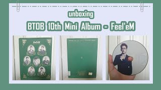 unboxing KPOP 비투비 BTOB 10th Mini Album - Feel'eM ~
