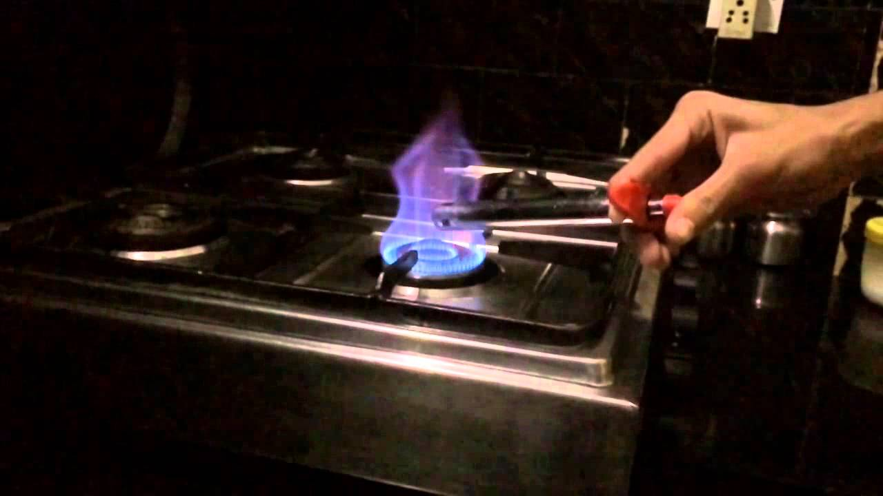 Lighting A Gas Stove Slow Motion