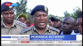 3 people die and several injured in Murang\'a accident