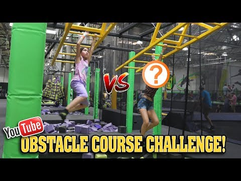 YOUTUBER OBSTACLE COURSE CHALLENGE!!! Human Claw Machine & Trampoline Park CLAMOUR 2018
