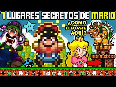 7 Lugares Secretos en Videojuegos de Mario (que NO Conocías)