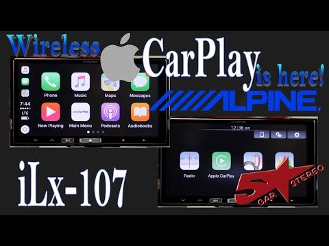 Wireless CarPlay is here with Alpine's NEW iLx 107