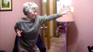 Grandma dancing to in the ayer