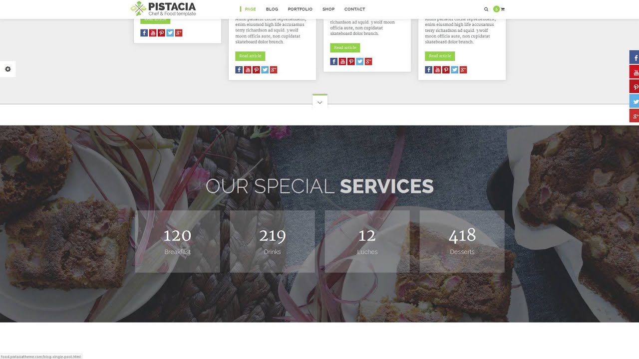Pistacia - Chef and Food HTML5 Template - YouTube