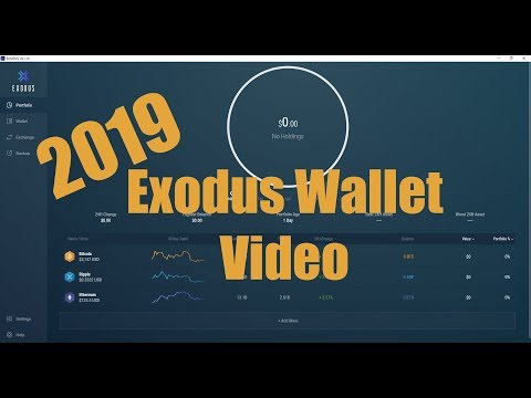 2019 NEW Exodus Wallet Installation, Receive Crypto, Exchange Crypto And My Review