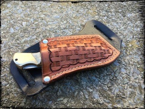 Leather Horizontal Folding Knife Sheath Youtube