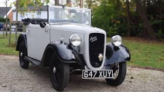 1938 Austin Seven goes for a drive