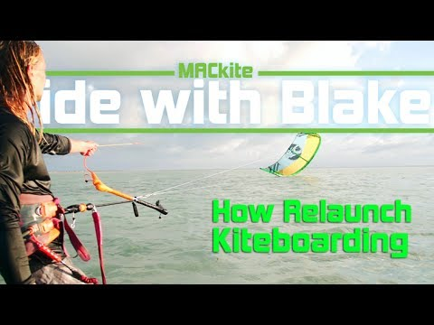 Kiteboarding: 5 Steps To Relaunch Your Kite - Ride With Blake: Vlog 18