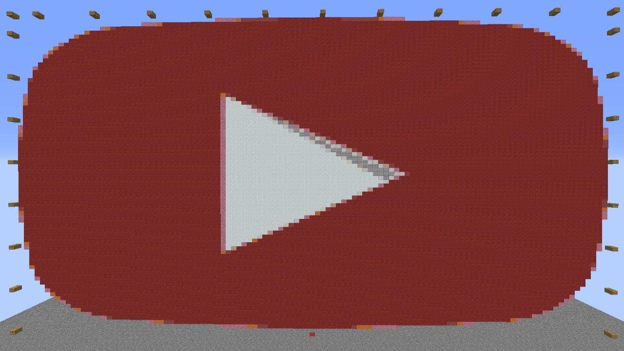 Minecraft Youtube Logo 1 Pixel Art Time Lapse 8148