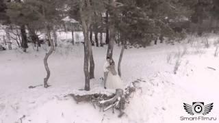 Аэросъемка свадьбы зимой