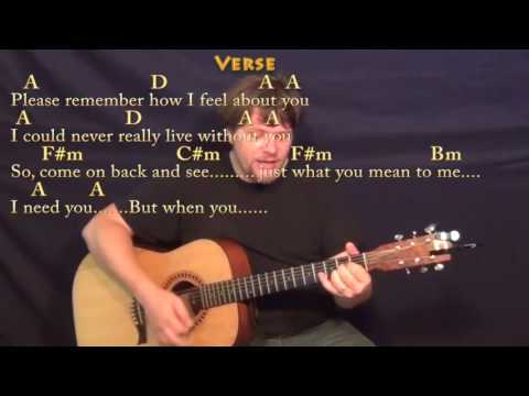 I Need You (Beatles) Strum Guitar Cover Lesson in A with Chords/Lyrics
