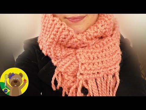 Cachecol de Crochê | Ponto fácil e rápido de fazer | DIY