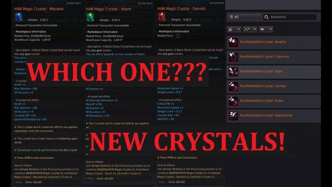 [BDO] Irresponsible Guide to Crystal Selection