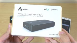 AUKEY 30000mah QC 3.0 Type-C Power Bank - Review!