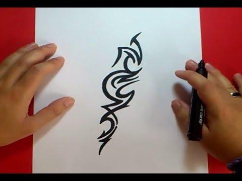 Como Dibujar Un Tribal Paso A Paso 107 How To Draw One Tribal 107