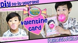 Cute & Easy Valentine Card - Last Minute DIY Bubblegum Valentine Gift Idea Pierce'sWorld