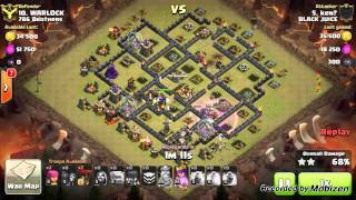 [Clash of Clans] Black Juice vs 786 Brothers War Recap ft Highest 3 star Attack by Ken? 7-12-2015
