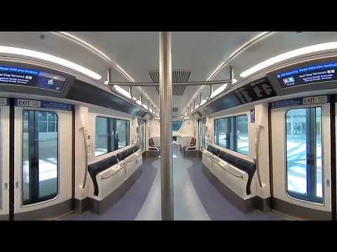 A Ride on the New South Airport APM at Orlando International Airport (360 Video)