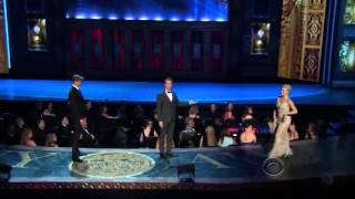 Andrew Rannells, Megan Hilty, Laura Benanti   Tony Awards 20131]