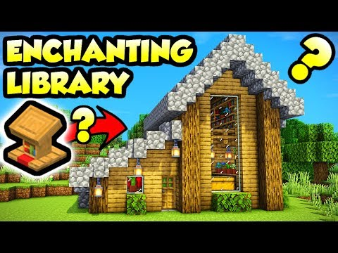 Minecraft Enchanting Library With A BIG Secret Tutorial (How To Build)
