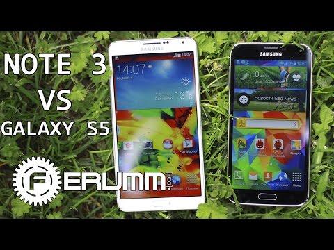Samsung Galaxy S5 VS Galaxy Note 3. Битва равных. Честное сравнение Note 3 и S5 от FERUMM.COM